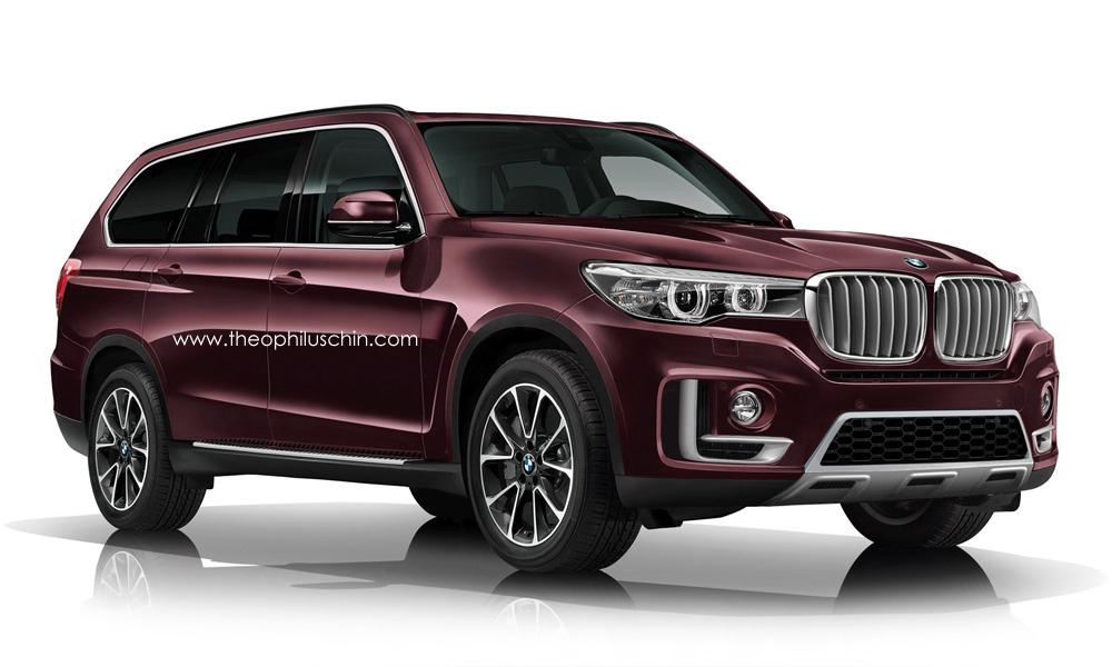 BMW X7 2017-2018 рендер от Theophilus Chin